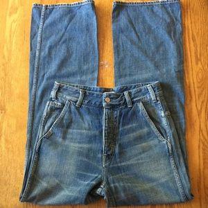 Citizens of Humanity High Rise Wide Leg Jeans   28